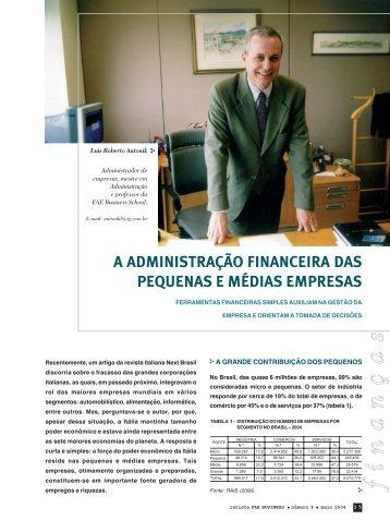 a administração financeira das pequenas e médias empresas