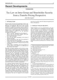 Tax Law on Intra-Group and Shareholder Security ... - Corit Academic