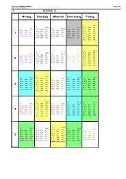 13 KLASSE 13 Montag Dienstag Mittwoch Donnerstag Freitag 1 2 3 ...