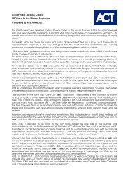 SIEGFRIED (SIGGI) LOCH 50 Years in the Music Business