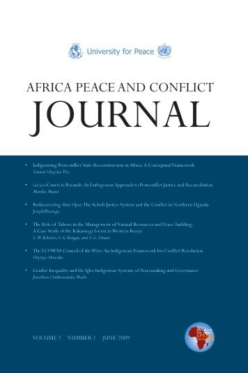 Download - Africa Peace and Conflict Journal - The University for ...