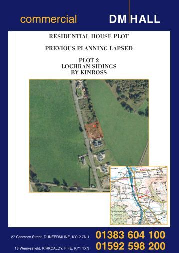 plot 2, lochran sidings, by kinross - DM Hall