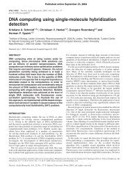 DNA computing using single-molecule hybridization detection