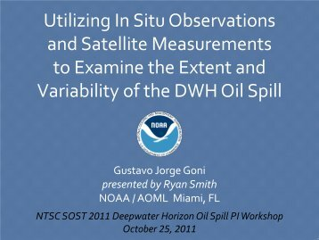 Utilizing In Situ Observations and Satellite Measurements to ...