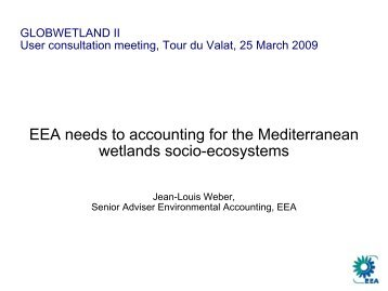 EEA Needs to Ecosystems Accounting - Data User Element - ESA