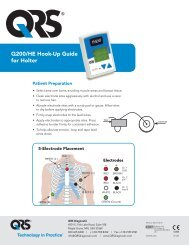 Q200/HE Hook-Up Guide for Holter - QRS Diagnostic