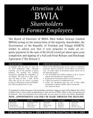Shareholders & Former Employees - WISE :: West Indies ...