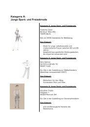 Kategorie A: Junge Sport- und Freizeitmode - Au Backe... Zukunft?!