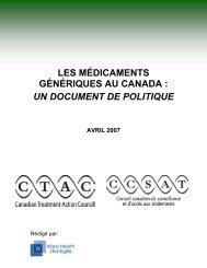 les médicaments génériques au canada