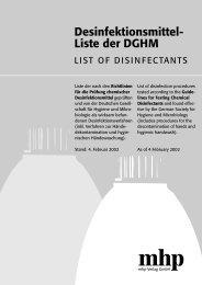 Desinfektionsmittel-Liste der DGHM - Gesundheitsamt