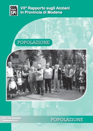 POPOLAZIONE POPOLAZIONE - CGIL Modena