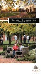 Graduate Studies in Law - University of Virginia School of Law