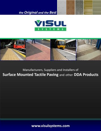 Surface Mounted Tactile Paving and other DDA Products