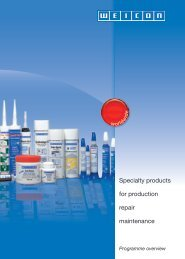 specialty products for production, repair, maintenance - Weicon.com