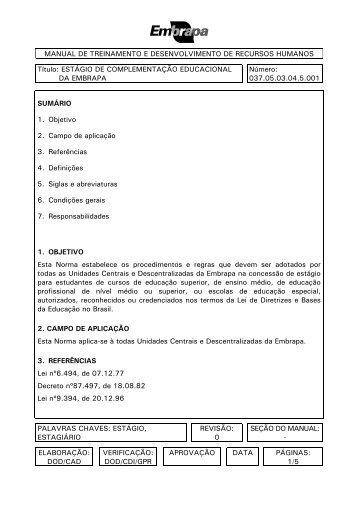 MANUAL DE TREINAMENTO E DESENVOLVIMENTO DE ...