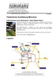 Feldenkrais Ausbildung München Informationen zum Seminarort