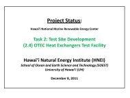 OTEC HXs Test Facility_Dec 2011 - Hawaii National Marine ...