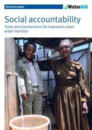 Social accountability: tools and mechanisms for improved ... - WaterAid