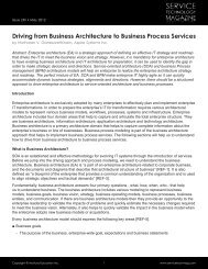 Driving from Business Architecture to Business Process Services