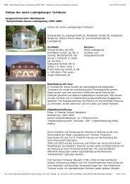 Umbau der sechs Ludwigsburger Torhäuser - CDU Ludwigsburg