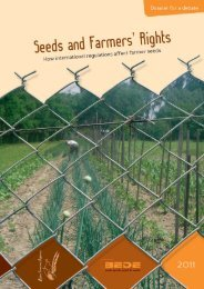 Seeds and Farmers' Rights - Farmers' Rights website