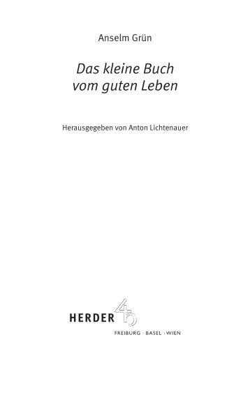 Das kleine Buch vom  guten Leben - Verlag Herder