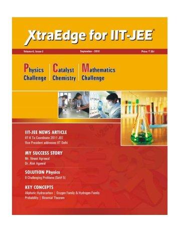 XtraEdge for IIT-JEE 1 SEPTEMBER 2010 - Career Point