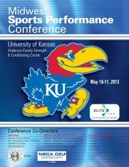 Conference - Department of Health, Sport, and Exercise Sciences