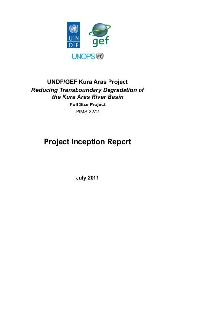 Project Inception Report - Reducing Transboundary Degradation in ...