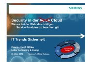 Security in der Voice Cloud - IT-Trends Sicherheit