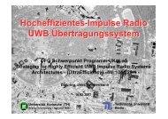 Hocheffizientes Impulse Radio UWB Übertragungssystem - FG ...