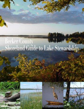 Becker County Shoreland Guide To Lake Stewardship