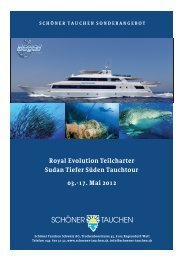 Royal Evolution Teilcharter Sudan Tiefer Süden Tauchtour 03.-17 ...