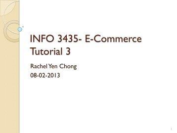 INFO 3435- E-Commerce Tutorial 3 - Home