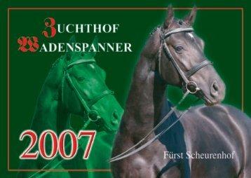 Hengstkatalog 2007 - Zuchthof Wadenspanner