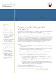 Deploying the BIG-IP LTM with IBM QRadar Logging - F5 Networks