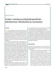 Uuden metsäsuunnittelujärjestelmän kehittämisen lähtökohtia ja ...
