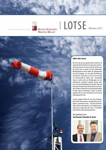 Mandantenbrief vom 01.10.2011 - Schneider & Kissel
