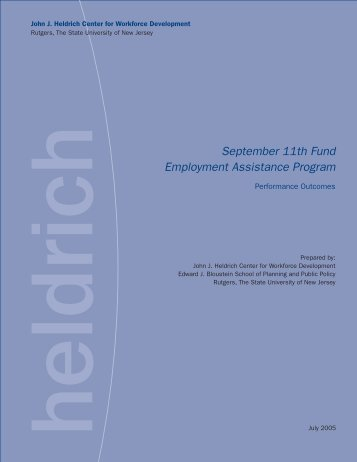 September 11th Fund Employment Assistance Program - John J ...