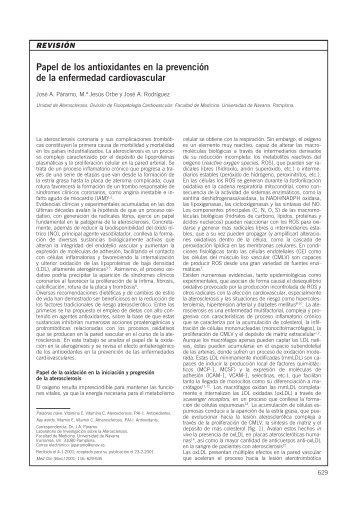 Papel de los antioxidantes en la prevención de la ... - Elsevier