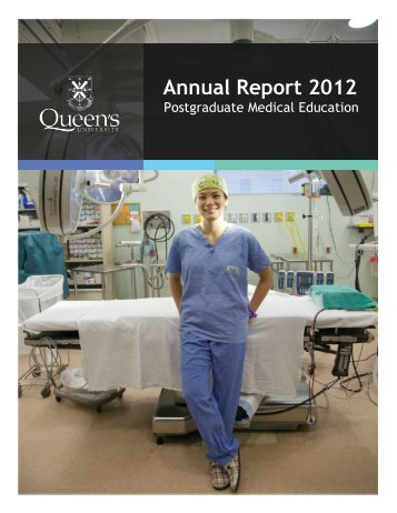 Annual Report 2012 - Faculty of Health Sciences - Queen's University