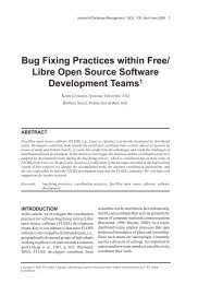 bug Fixing Practices within Free - IFIP Working Group 2.13