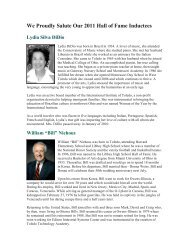 We Proudly Salute Our 2011 Hall of Fame Inductees - Ottawa Hills ...