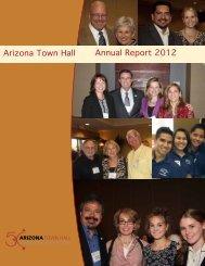Annual Report 2012 Arizona Town Hall