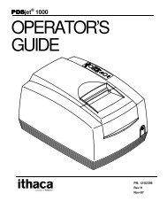 POSjet 1000 Operator's Guide - TransAct