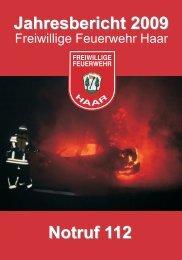 Jahresbericht 2009 - Freiwillige Feuerwehr Haar