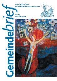 Gemeindebrief April / Mai 2006 - Evangelische Kirchengemeinde ...