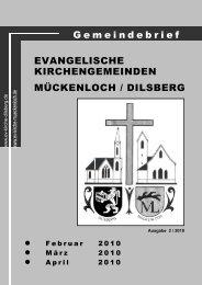Gottesdienste - Evangelische Kirche Dilsberg