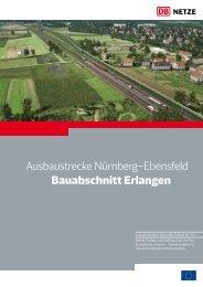 Ausbaustrecke Nürnberg–Ebensfeld Bauabschnitt Erlangen - Bahn.de