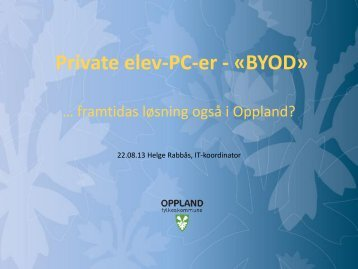 Privat elev-PC-er – «BYOD